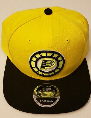 finest selection 2833b 64d24 New Era Indiana Pacers Cyber Yellow 9FIFTY Snapback Hat