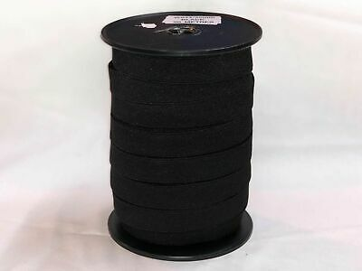 Elastic webbing 25mm high quality 50mt Roll black, sewing horse rug