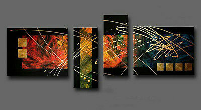 FRAMED HUGE MODERN ABSTRACT WALL DECOR OIL PAINTING ON Canvas Hand-painted aps25