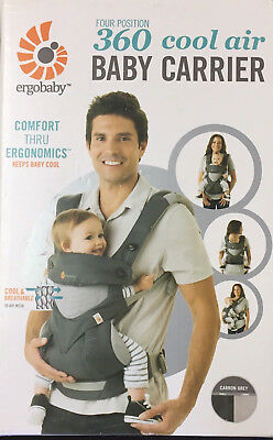 Ergobaby Four Position Cool Air Mesh 360 Carrier Carbon Grey NEW RRP $279