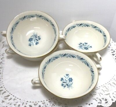Blue Ridge By lenox Pattern P316  set 4 Bouillon cream soup cup
