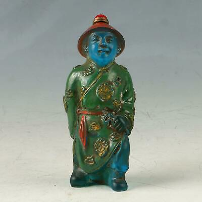 Chinese Glaze Colored Drawing Handwork Character Snuff Bottle MY0463