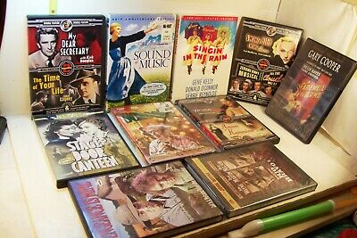 10 CLASSIC MOVIES DVD's LOT The Sound of Music Singin in the Rain Scrooge++++++
