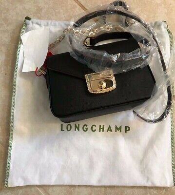 ca8b69ddcf7 LONGCHAMP LE PLIAGE Heritage Extra Small Leather Crossbody Black ...
