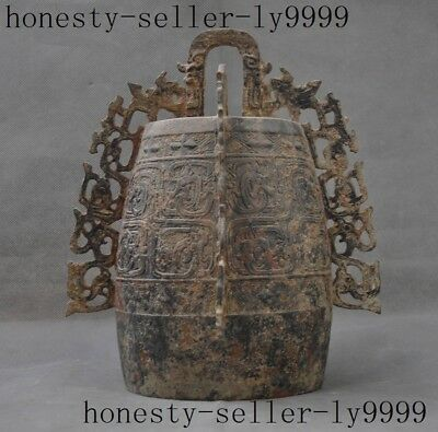 Old Chinese Bronze Antique Musical Instruments Chimes beast Pattern bells Bell