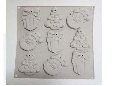 Christmas nine multi balls Silicone soap Mould plaster Mold