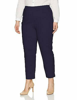 ca45ad47cae Alfred Dunner NEW Blue Womens Size 16W Plus Slim-Fit Pants Stretch  50 212