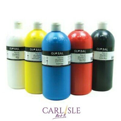 Global Colours Student Acrylic Paints. Choose Your Colour By One.