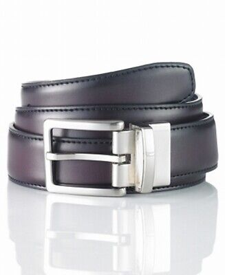 Club Room NEW Black Burgundy Reversible Men's Size 36 Leather Dress Belt $39 736