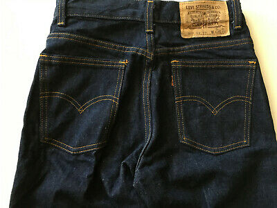 NEW UNWORN 1983 Vintage LEVIS Womens Dark Denim HIGH WAIST Jeans 80s 90s 27 35