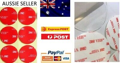 10x 3M VHB Double Sided Tape Clear 30mm Round Pad Buy 2 Get 1 Free = 6pcs
