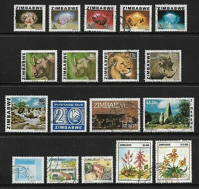 ZIMBABWE mixed collection No.3, 1980-2004, incl Postage Due, used