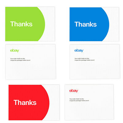 """4-Color Bay-Branded Thank You Postcards 5.5"""" X 4"""",  Promote your eBay business"""