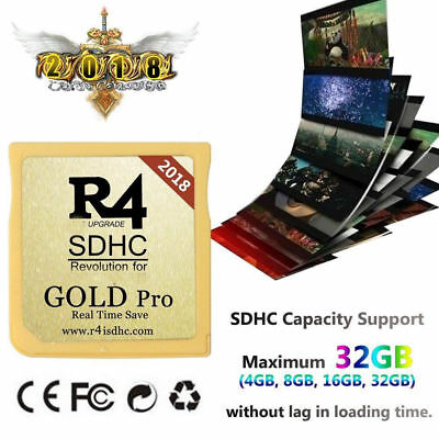 R4 Gold Pro SDHC Game For DS / 3DS / DSI / Revolution Cartridge With USB Adapter