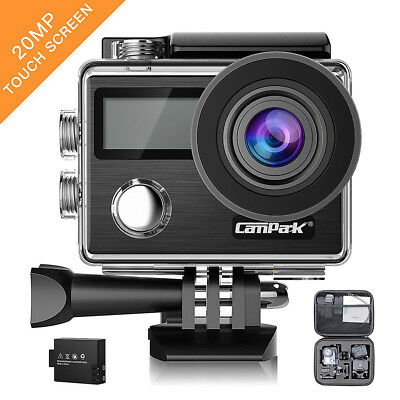 Campark X20 4K Action Sports Camera Dual LCD Touch Screen W/ 20MP SONY Sensor AU