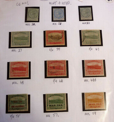 Lot Of 12 Old Dominica Stamps, Qv Sg20-59, Mint & Used