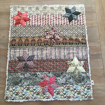 Lovely Hand crafted Liberty of London baby blanket/Quilt/Comforter/Fleece