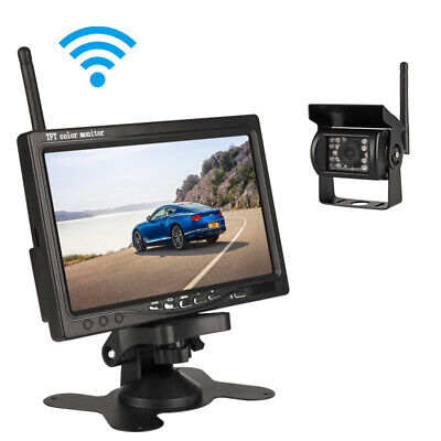 7'' TFT LCD Car Monitor Parking Wireless Rear View Camera Backup Rearview System