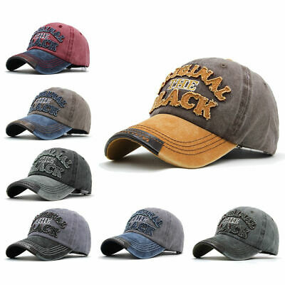 Mens Womens Word Print Hat Adjustable Snapback Trucker Golf Sport Baseball Cap