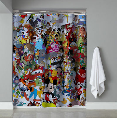 Nice Design Disney All Character Shower Curtain Size 60 X 72 Inch