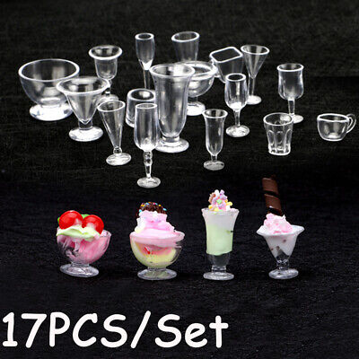 Ornament Figurines Goblets Model Kitchenware Ice Cream cup Miniatures Tableware