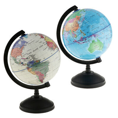 Rotating World Earth Globe Ocean Map Student Education Study Tool 14cm 2Pcs