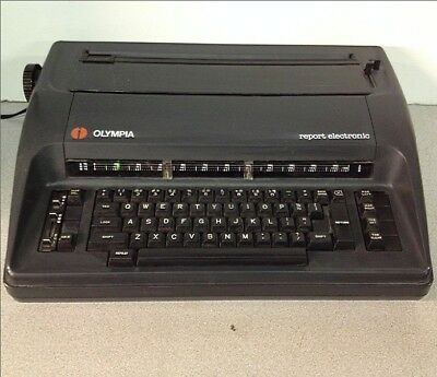 Vintage Olympia Report Electronic Typewriter Machine W/Cord For Parts Or Repair