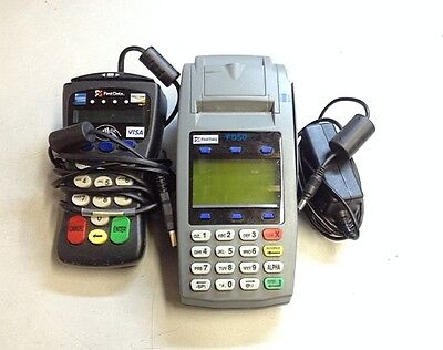 First Data FD50 Dual Comm IP Credit Card Machine w/ FD30 and Adaptor
