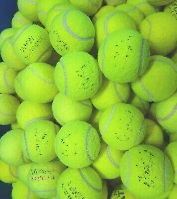 30 Used Tennis Balls. Machine Washed. Beware: Unwashed Balls Burn Dogs Mouths