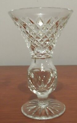 """Tyrone Crystal Thistle Shaped Vase, no box. Approx. 5.5"""" Tall"""