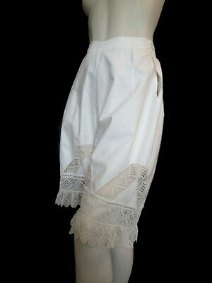 Antique Clothing - Edwardian 1910s Vintage Drawers or Bloomers With Lavish Lace
