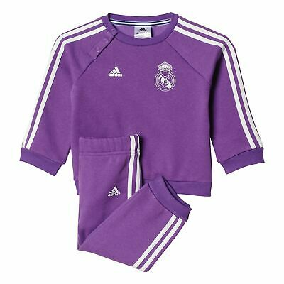 adidas REAL MADRID BABY TRACKSUIT 3-12 MONTHS 3 STRIPES 68 74 80 CHILDRENS COMFY