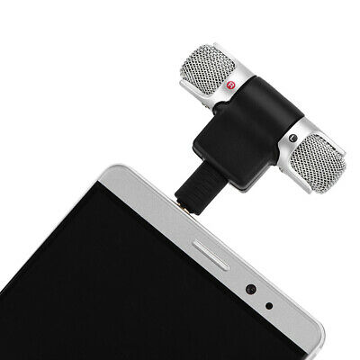 3.5mm Mini Plug in Stereo Microphone Mic for iPhone Samsung Smartphone Cellphone