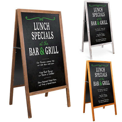 Large Wooden A Board/Pavement Sign/Menu Board/Chalkboard Shop Cafe Pub Display
