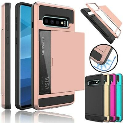 For Samsung Galaxy S10 Plus S10+ S10e Case Hybrid Wallet Card Holder Slot Cover