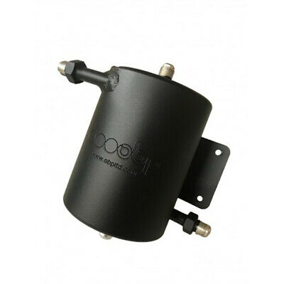 OBP Bulkhead Mount 1 Litre Dark Matter Fuel Swirl Pot with JIC Fittings