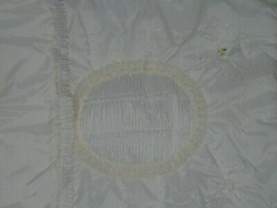 Vintage Coachbuilt Pram Cover - Beautiful Ivory with lace and embroidery