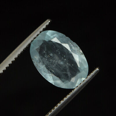 Certified 2.85 Ct 100% Natural Aquamarine Faceted Oval Cut Loose Gemstone DZ-311