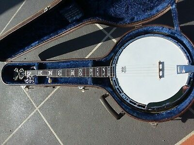 ELECTA BANJO Made by IBANEZ Rare Collector with Brass Tone Ring