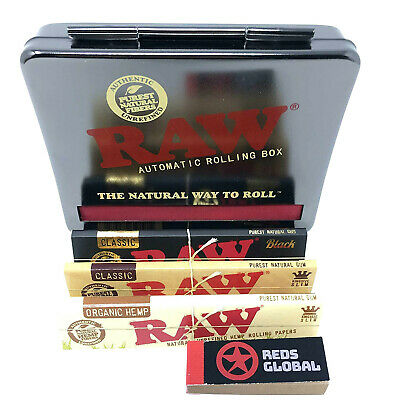 Raw Automatic Rolling Boxes 2 sizes sets  rolling papers   tips by Redsglobal