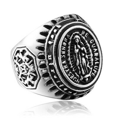 Our Lady of Guadalupe The Madonna Ring for Men Women Nuestra Senora de Guadalupe