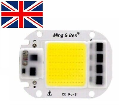 LED COB Lamp Chip 20W 30W 50W AC 110V 220V 230V Smart IC DIY LED Floodlight Day