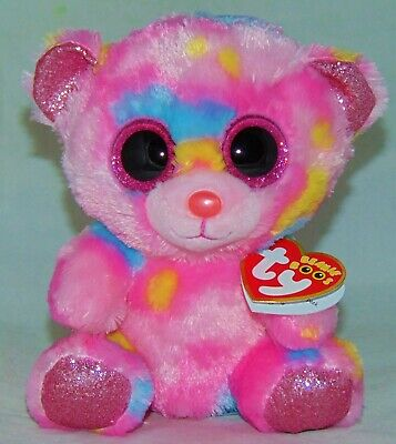90e1ee52fc5 New Foil Version! Ty Beanie Boos FRANKY the Tie Dyed Bear 6