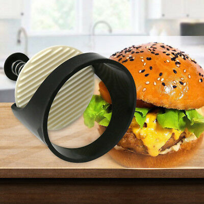 Round Shape Hamburger Mold DIY Plastic Meat Beef Maker Grill Burger Press MoldFO