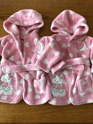 Twin Girls Dressing Gowns 0-6