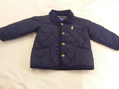 Joules baby boys navy quilted jacket 3-6 months