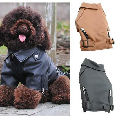 Waterproof Warm Winter Pet Dog Coat PU Leather Jacket Windproof Puppy Clothes
