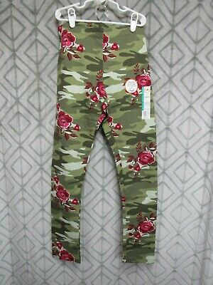 New Wonder Nation Leggings Size XL 14-16 Girls Green Camo Red Floral  School