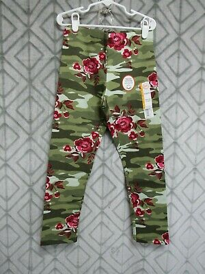 New Wonder Nation Leggings Size M 7-8 Girls Green Camo Red Floral  School