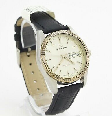 MARVIN automatic Swiss made stainless steel wristwatch. Cal. ETA 2879, 25 jewels